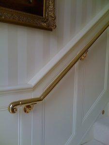 brass handrail