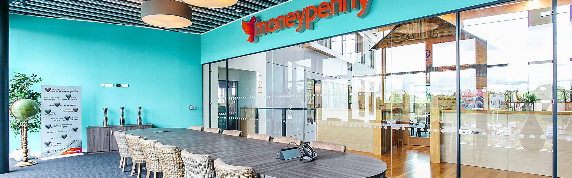 commercial ceiling at moneypenny