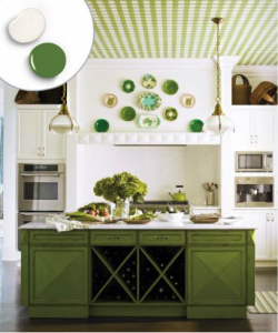 Leaf Green and White kitchen