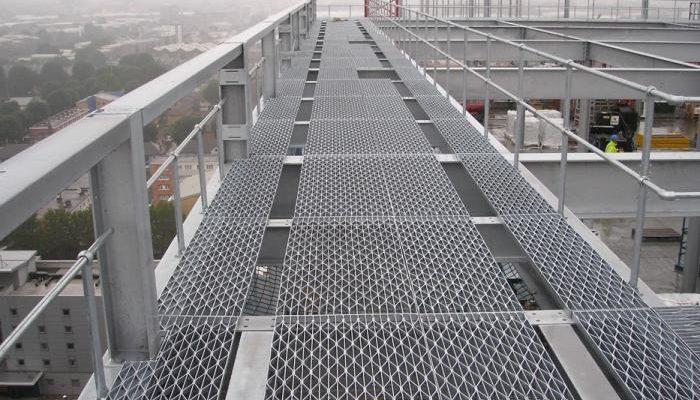 mesh flooring diamond pattern