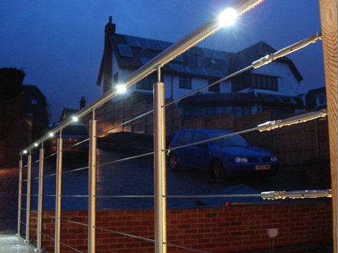 Light the way with an LED handrail