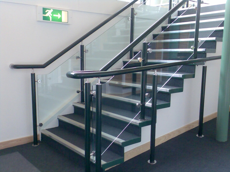 Handrails and balustrades provide support in schools