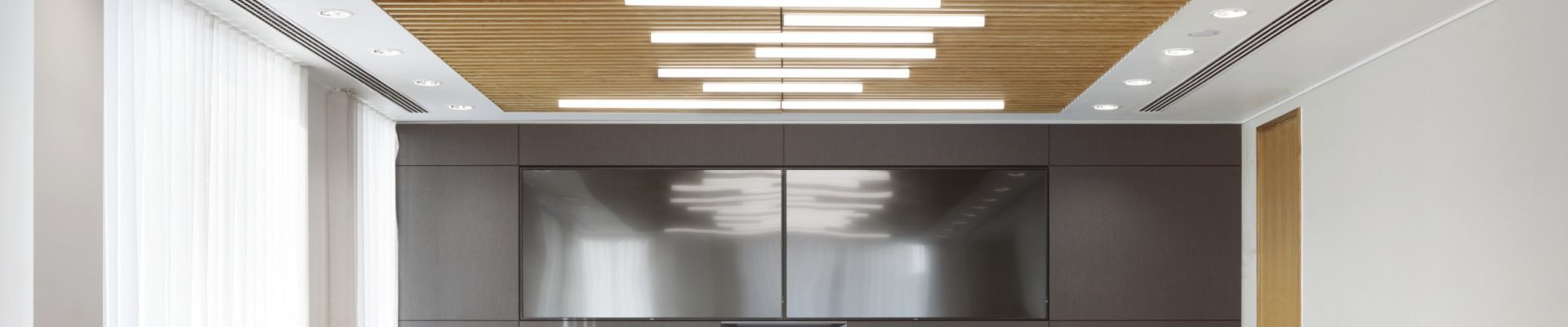 wooden ceiling grill