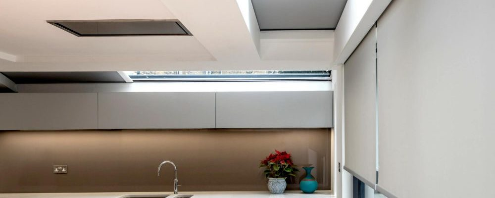 rooflight blinds in kitchen