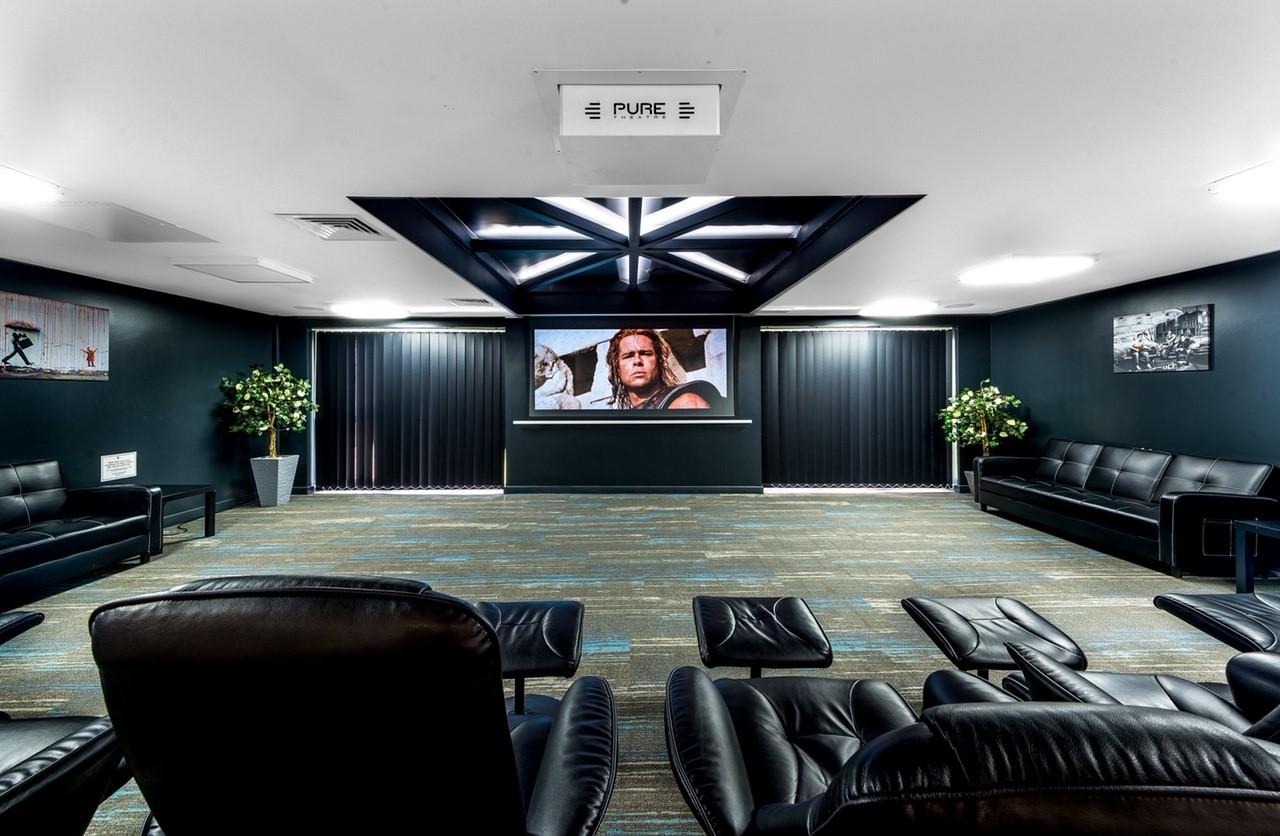 Impressive Cinema Room at Student Accommodation